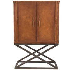 Rufus Leather Cocktail Cabinet