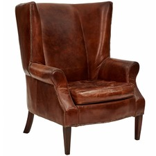 Granville Leather Wingback Chair