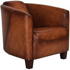 Octavius Leather Tub Chair
