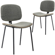 Lucas Faux Leather Dining Chairs (Set of 2)