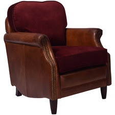 Aldebaran Velvet & Leather Armchair