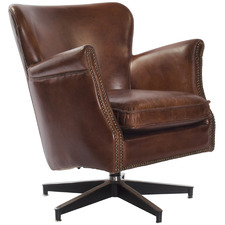 willow Aged Leather Armchair