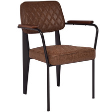 Brown Boston Faux Leather Dining Chair