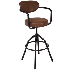 Ariana Faux Leather Adjustable Barstool