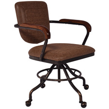 Millie Faux Leather Swivel Desk Chair