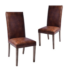 Martin Waxed Leather Dining Chairs (Set of 2)