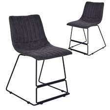 Marcel Vinyl Dining Chairs (Set of 2)
