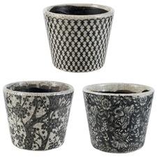 3 Piece Bramwell Terracotta Herb Pot Set