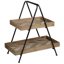 Bancroft 2 Tier Wooden Fruit Stand