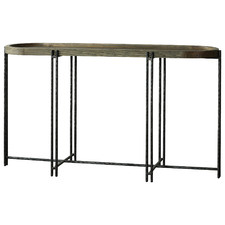 Dark Timber Roccoco Reclaimed Wood Console Table