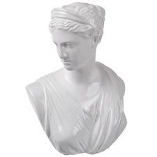 White Frances Ceramic Bust