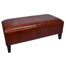 Tan Astrid Leather Bench