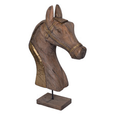 Brown Astrid Horse Head Ornament