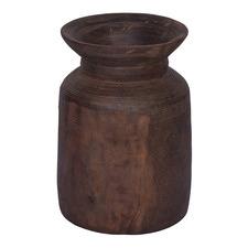 Antique Brown Astrid Mango Wood Vase