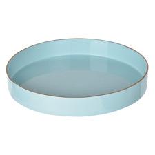 Powder Blue Elouan Round Decorative Tray