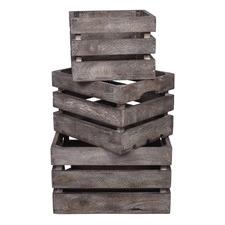 3 Piece Astrid Mango Wood Crate Set