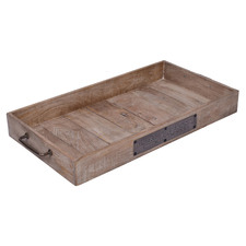 Brown Astrid Rectangular Mango Wood Decorative  Tray