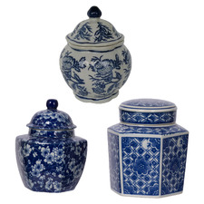 3 Piece Severine Porcelain Temple Jar Set