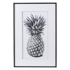 Black & White Pineapple Framed Printed Wall Art