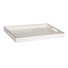 White Moore Rectangular Decorative Tray
