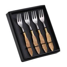 Silver & Gold Harbury Dessert Forks (Set of 4)