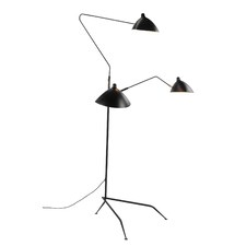 Serge Mouille Replica MFL-3 Three Arm Floor Lamp