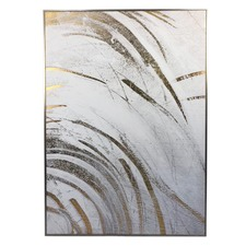 Brushed Gold Framed Canvas Wall Art