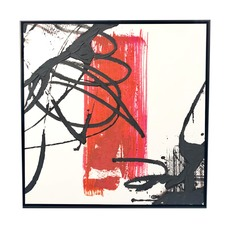 Bit of Red Framed Canvas Wall Art