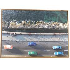 Driving Along The Coast Framed Print