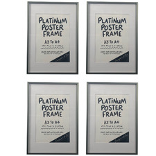 Platinum Metal Poster Frame (Set of 4)