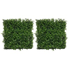 50cm Square Faux Small Grain Grass Wall Panels (Set of 2)