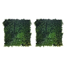 100cm Square Faux Mixed Grass Wall Panels (Set of 2)