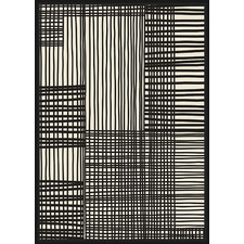 Woven Lines Framed Canvas Wall Art