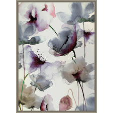 Watercolour Floral Framed Canvas Wall Art