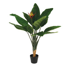 85cm Faux Bird of Paradise in Black Pot