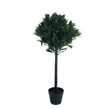 90cm Faux Bay Tree in Black Pot