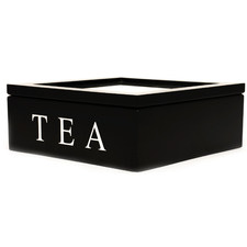 Black Berkeley 9 Compartment Tea Box