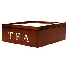 Brown Berkeley 9 Compartment Tea Box