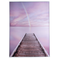 Fleur Jetty Framed Canvas Wall Art