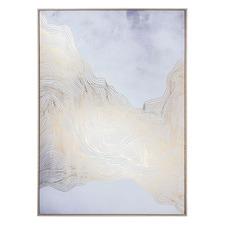 Gold Splash Framed Canvas Wall Art