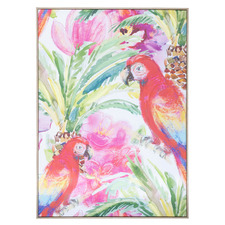 Wingham Parrot Framed Canvas Wall Art