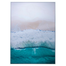 Azure Beach Framed Canvas Wall Art