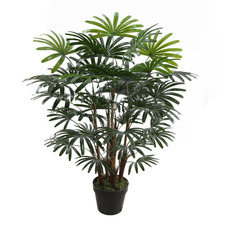 90cm Potted Faux Rhapis Plant