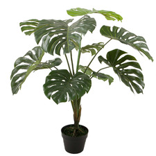 90cm Potted Faux Monstera Plant
