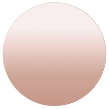 Rose Gold Round Frameless Wall Mirror