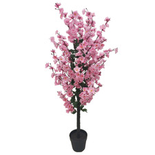 120cm Potted Faux Cherry Blossom Tree
