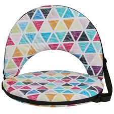 Geometric Outdoor Cushion Recliner