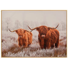 Yak Duo Framed Canvas Wall Art