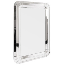 Silver Rectangular Metal Wall Mirror