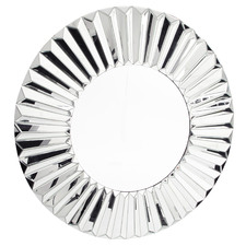 Silver Round Metal Wall Mirror
